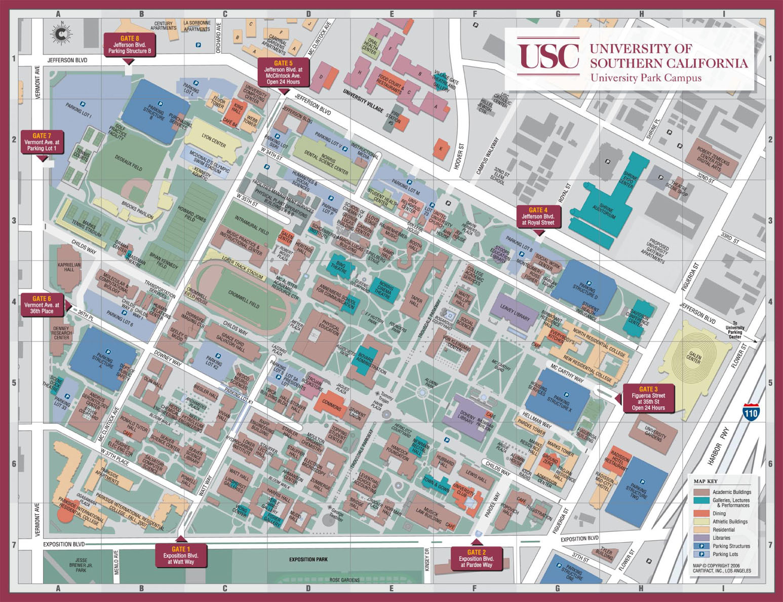 usc campus map columbia – bnhspine.com